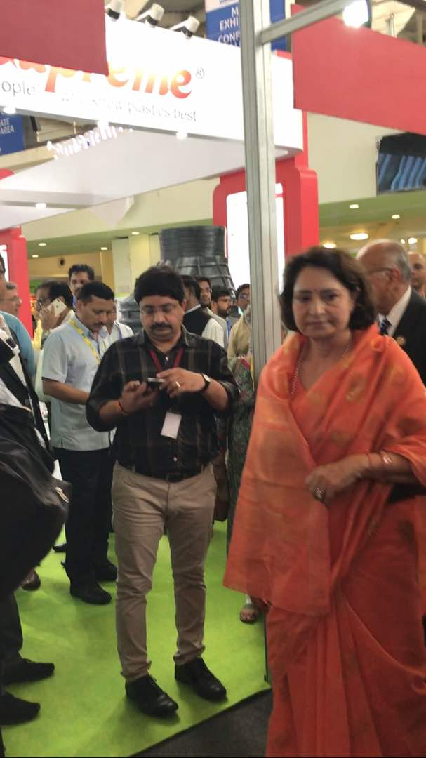 Honorable Minister Maya Singh visited our Stall