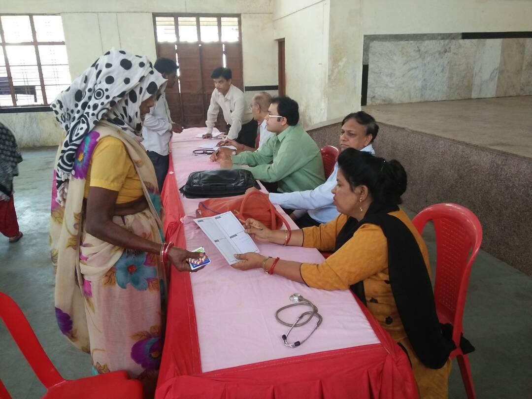 Smart Health Camp Day 1 -17-05-2017 at Ranjhi Zone