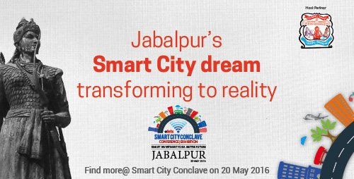 Dignitaries light up the lamp at Jabalpur Smart City