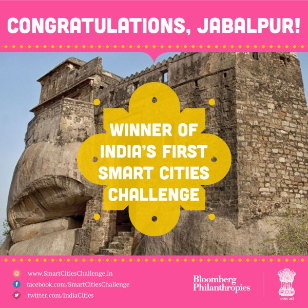 Congratulations jmc jabalpur  for winning India's first Smart Cities Challenge