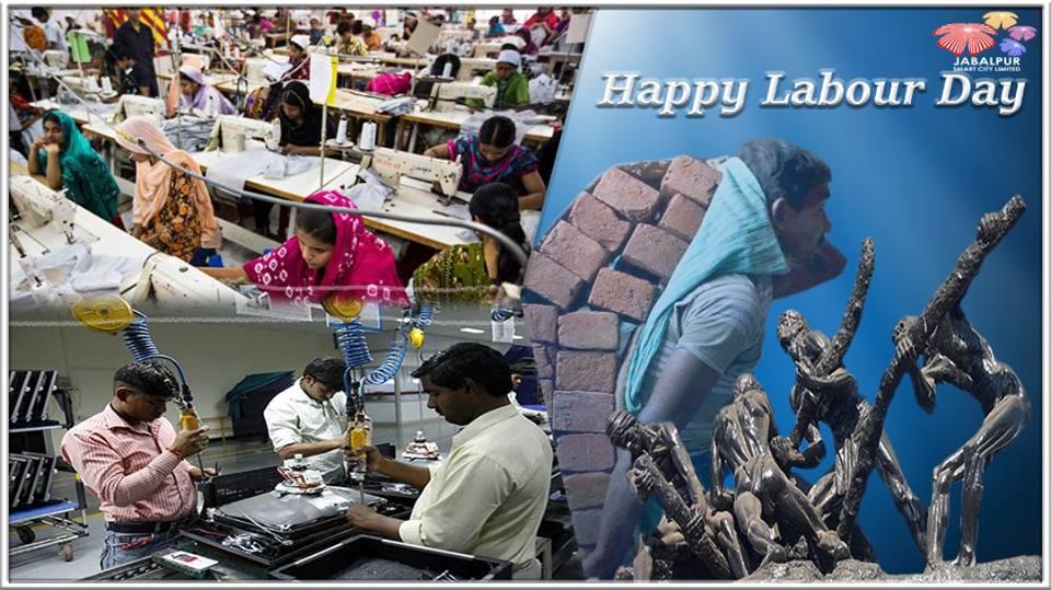 Smart City Jabalpur - Labour Day Greetings