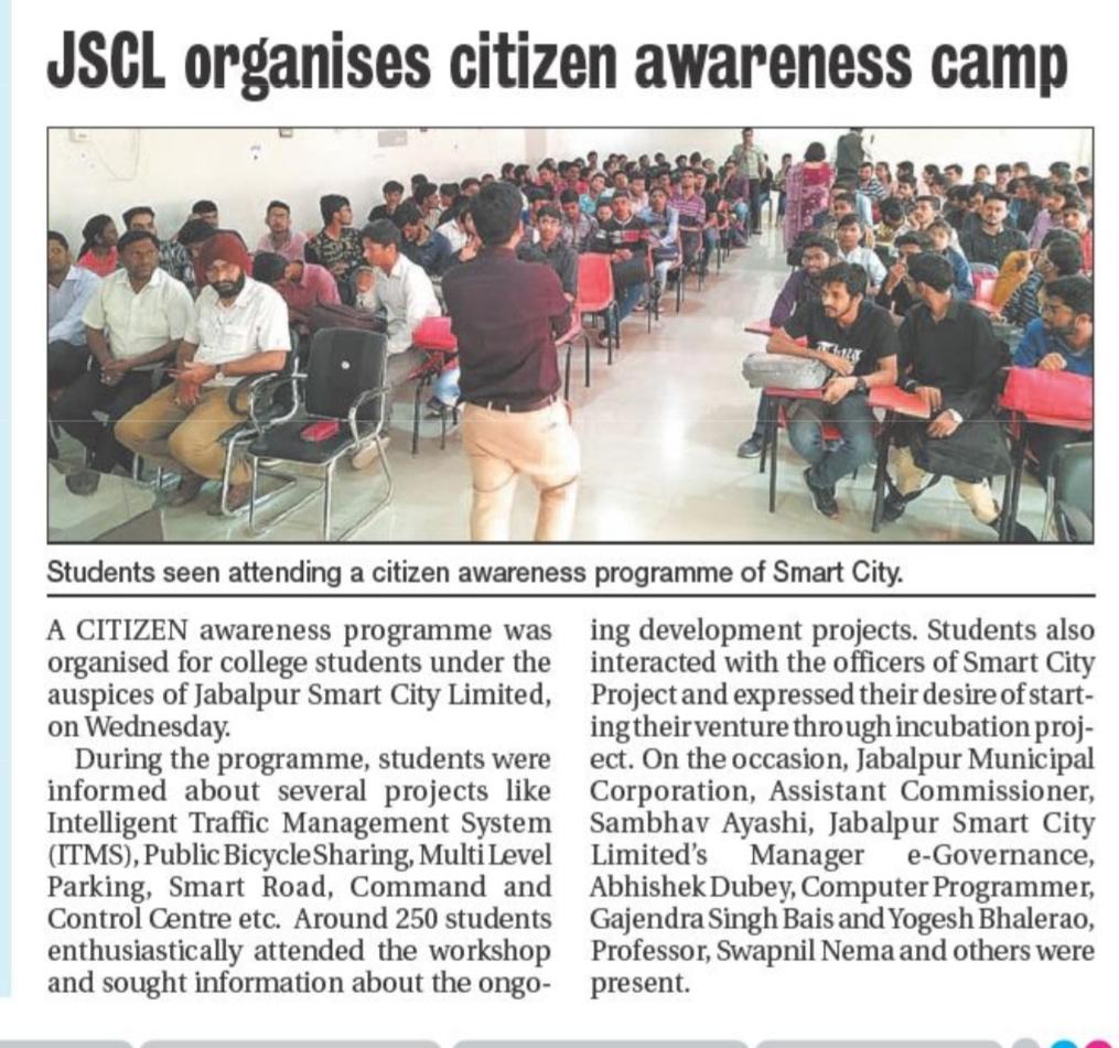 JSCL organises citizen awareness camp